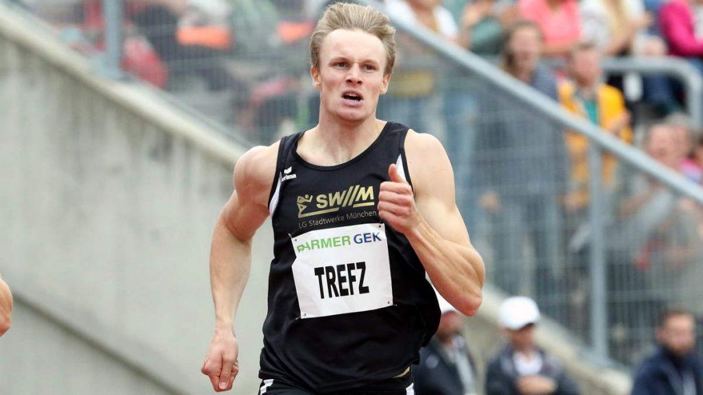 400m-Ass Johannes Trefz von der LG Stadtwerke München in Aktion