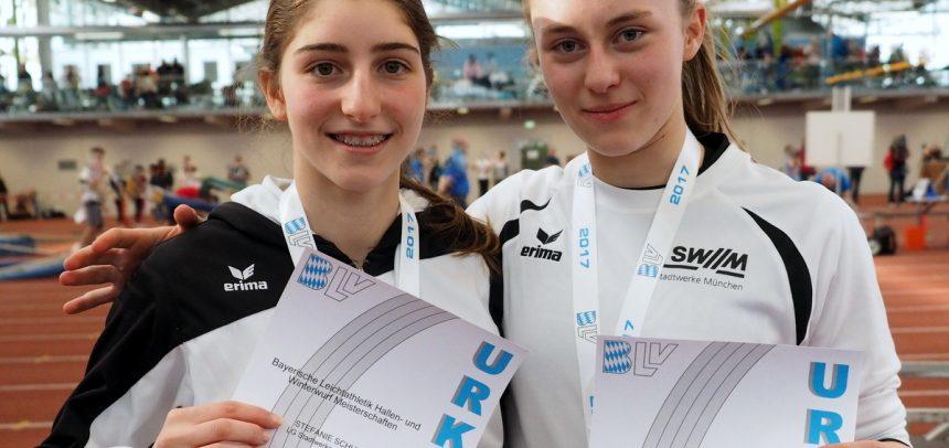 Titelregen bei bayerischer U16- und U20-Hallenmeisterschaft