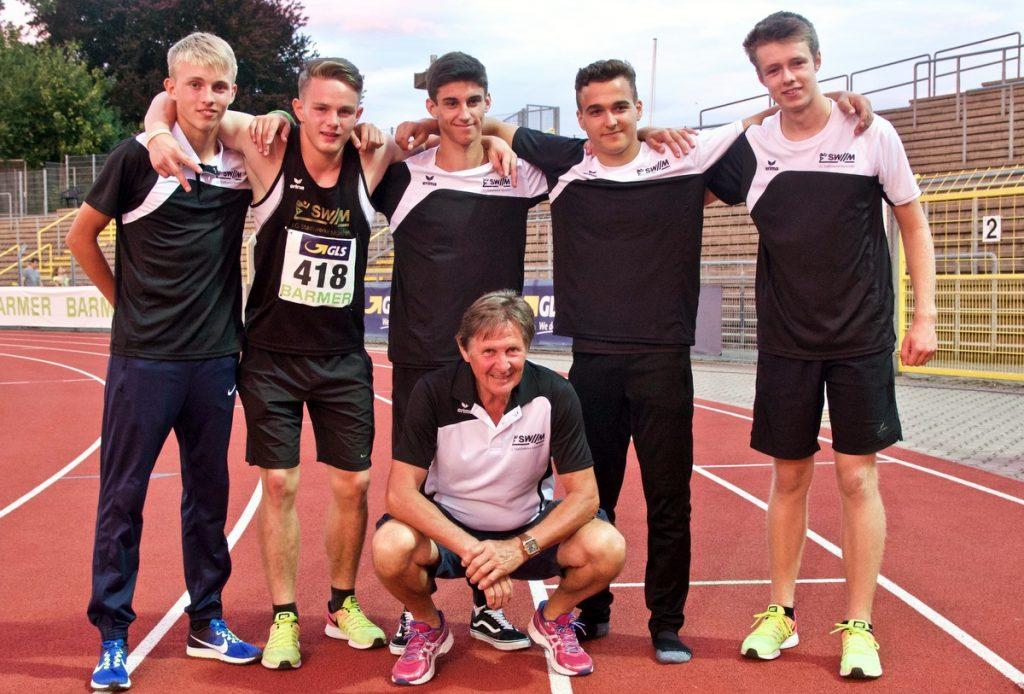 4x100-Meter Staffel U18 der LG Stadtwerke München