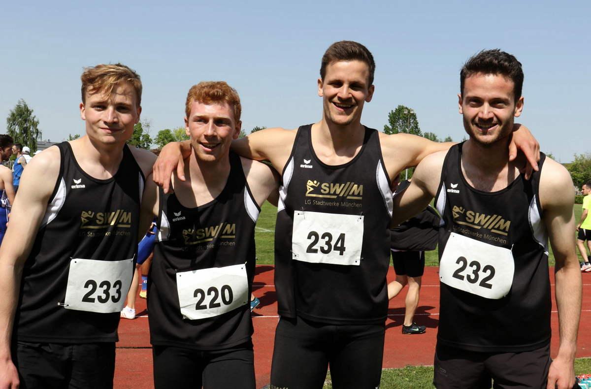 U23 4x400-Meter-Staffel der LG Stadtwerke München