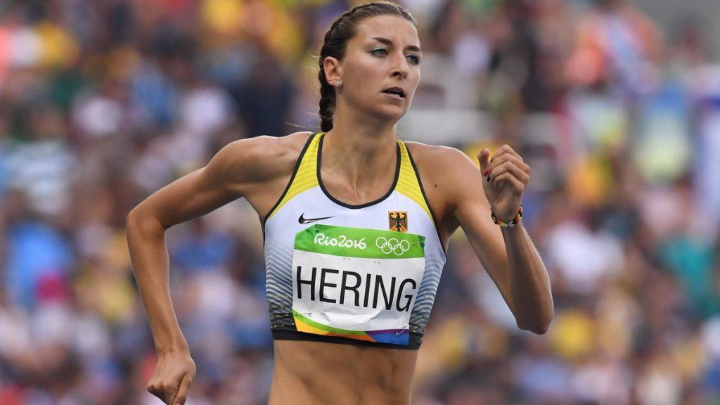 Christina Hering von der LG Stadtwerke München bei ihrem 800 Meter Vorlauf bei den Olympischen Sommerspielen in Rio de Janeiro