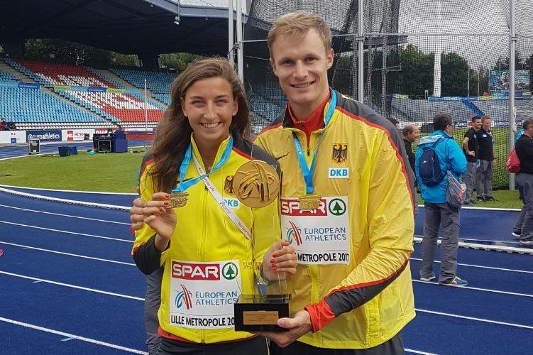 Christina Hering und Johannes Trefz von der LG Stadtwerke München