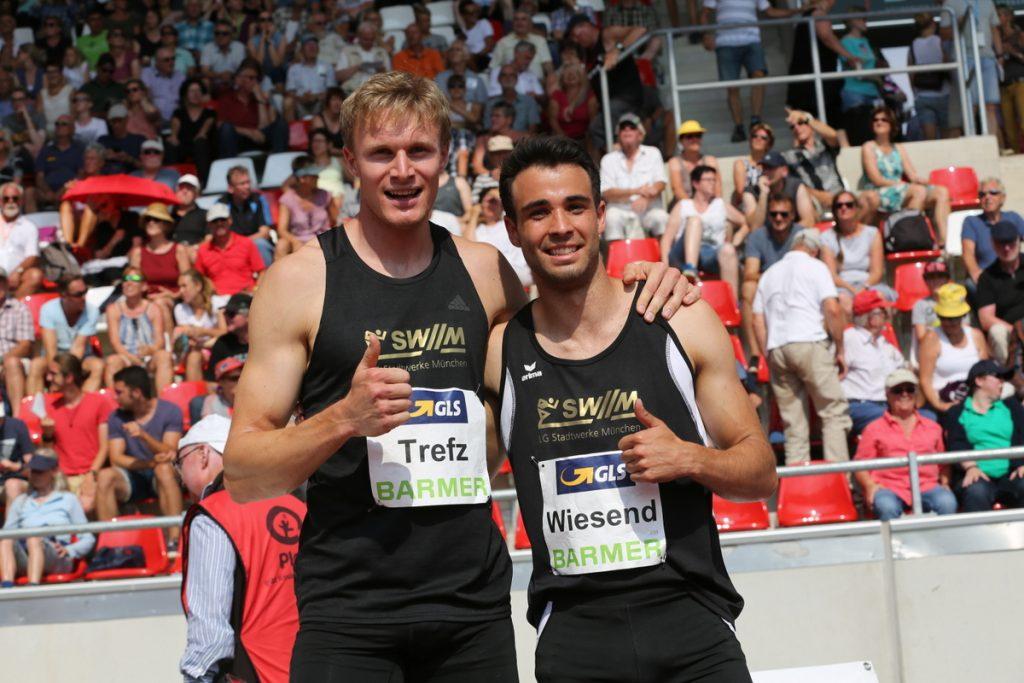 Johannes Treft und Benedikt Wiesend von der LG Stadtwerke München