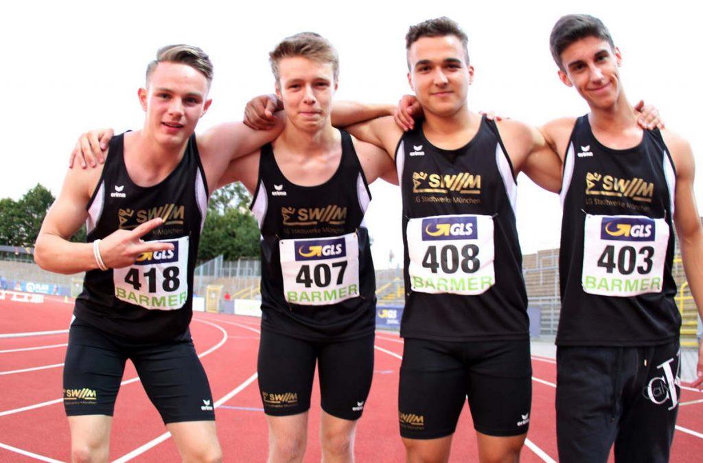 4x100-Meter-Staffel der U18 der LG Stadtwerke München