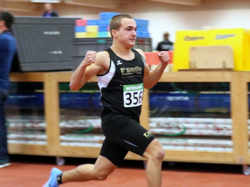 Dreifacherfolg für U18-Sprinter Olbert bei Bayerischer Hallenmeisterschaft
