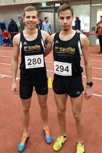 Francesco Odorizzi und Dimitrios Tsakalos von der LG Stadtwerke München