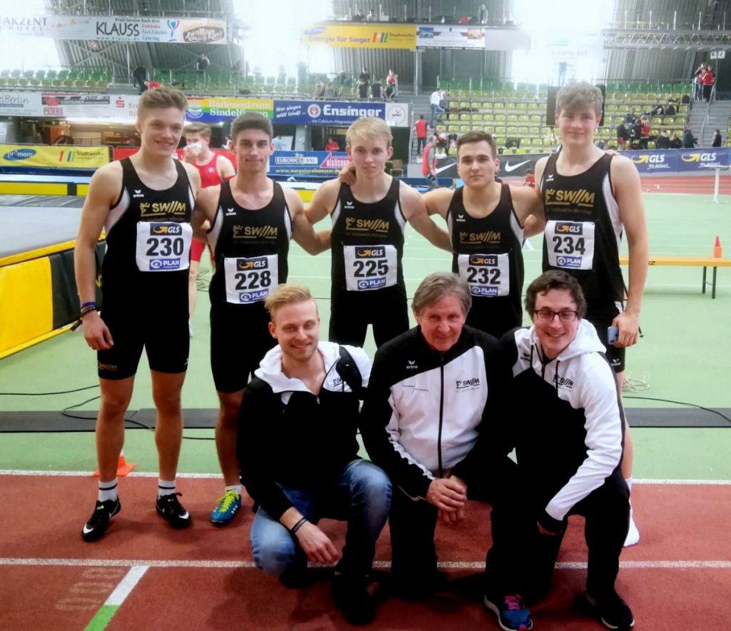 4x200-Meter-U20-Staffel der LG Stadtwerke München