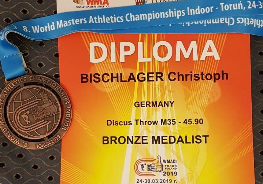 Diskus-Bronze für Bischlager bei Senioren-Hallen-WM