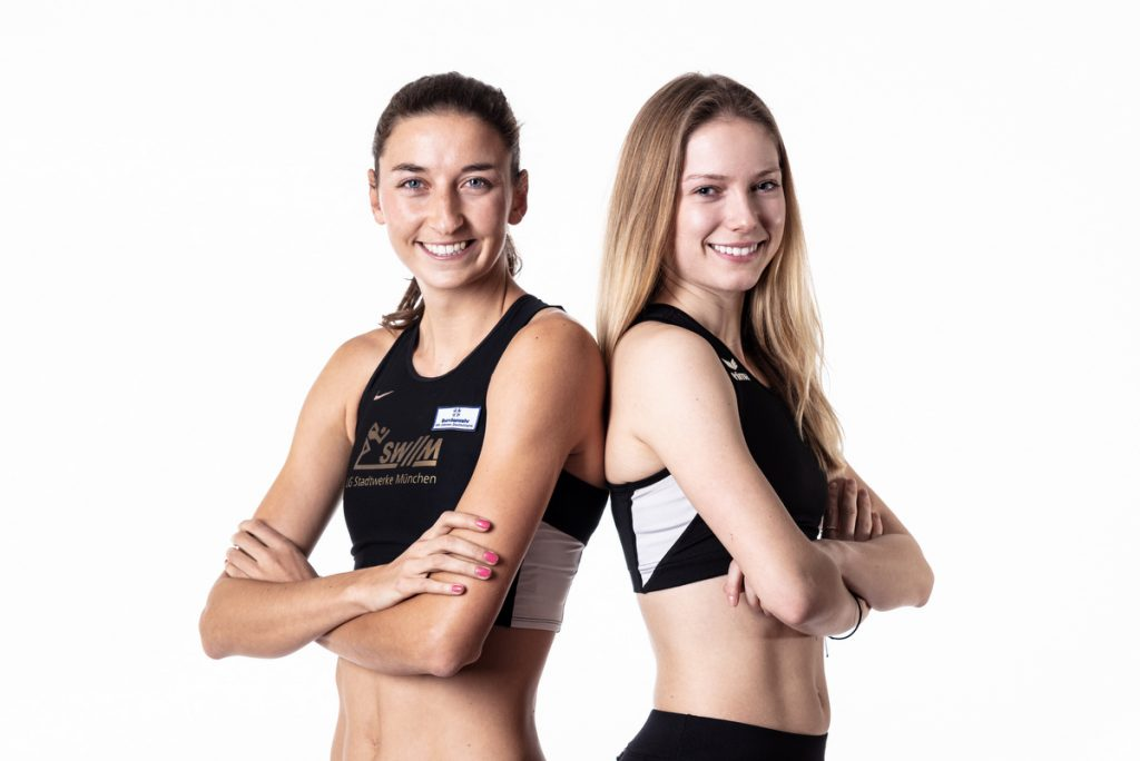 Christina Hering (l.) und Katharina Trost von der LG Stadtwerke München