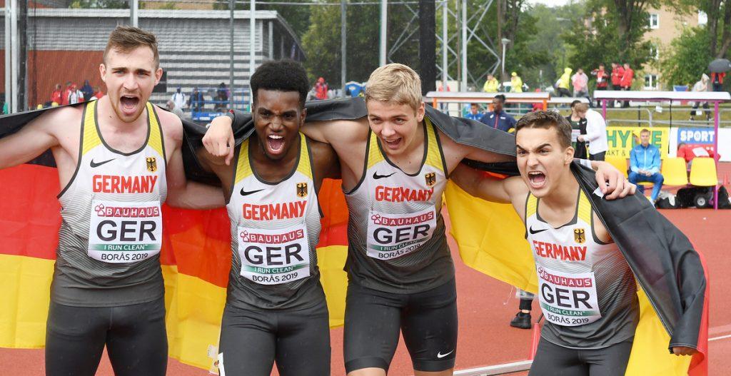 DLV-Staffel mit Fabian Olbert von der LG Stadtwerke München gewinnt U20-Europameisterschaft