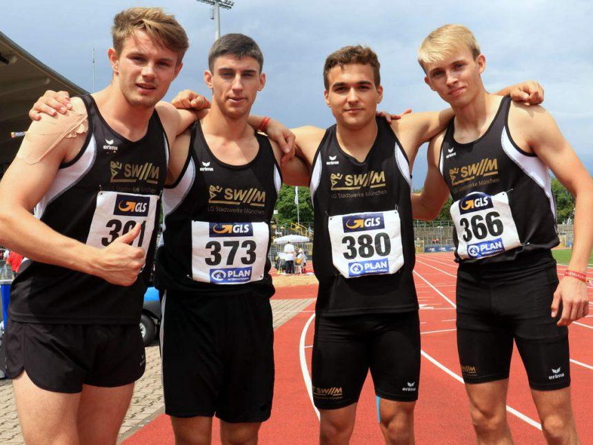 4×100-Meter-Jugendstaffel gewinnt Gold in Rekordzeit
