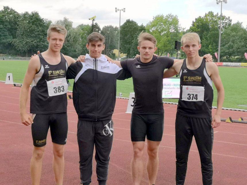 Bayerischer Rekord für 4×100-Meter-Staffel der U20 in Regensburg