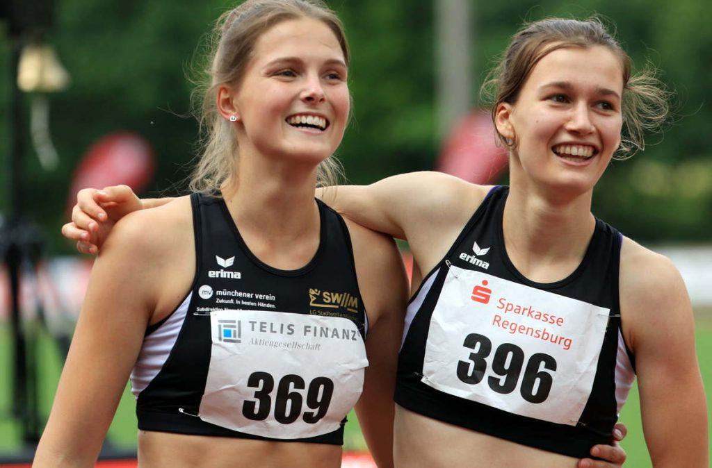 Tina Benzinger und Louise Wieland von der LG Stadtwerke München