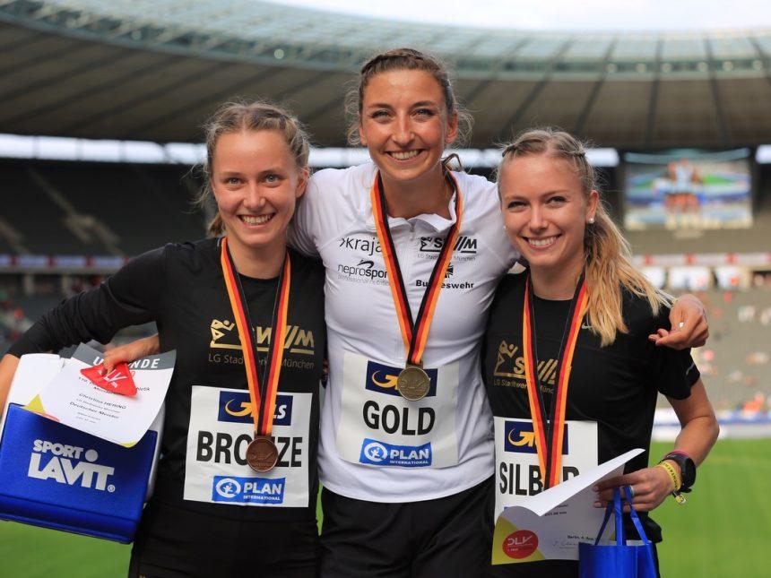 Ein Dreifacherfolg über 800 Meter, zwei Hammerwurf-Medaillen und ein Jugendrekord für LG SWM bei Deutscher Meisterschaft in Berlin