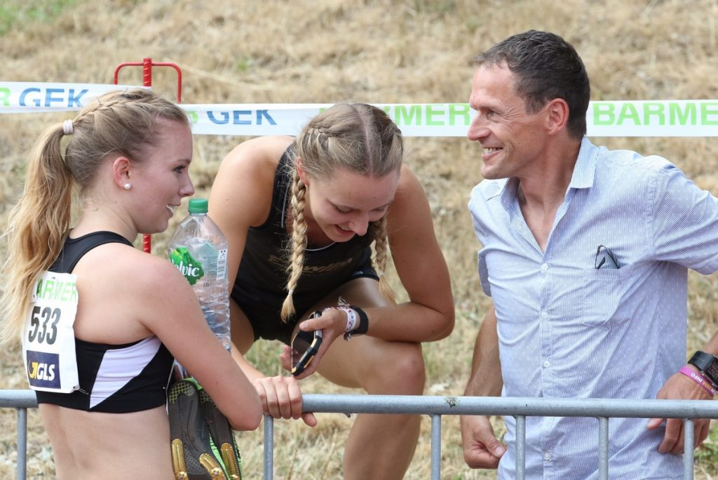 Katharina Trost, Mareen Kalis und Andreas Knauer von der LG Stadtwerke München