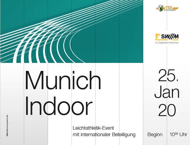 """Hallenmeeting """"Munich Indoor"""" auf 25. Januar vorverlegt"""