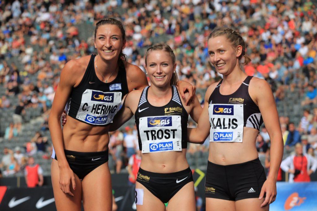 Christina Hering, Katharina Trost und Mareen Kalis von der LG Stadtwerke München