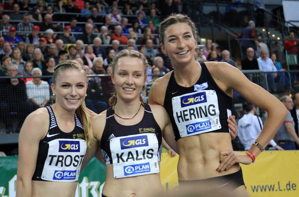 Katharina Trost, Mareen Kalis und Christina Hering von der LG Stadtwerke München