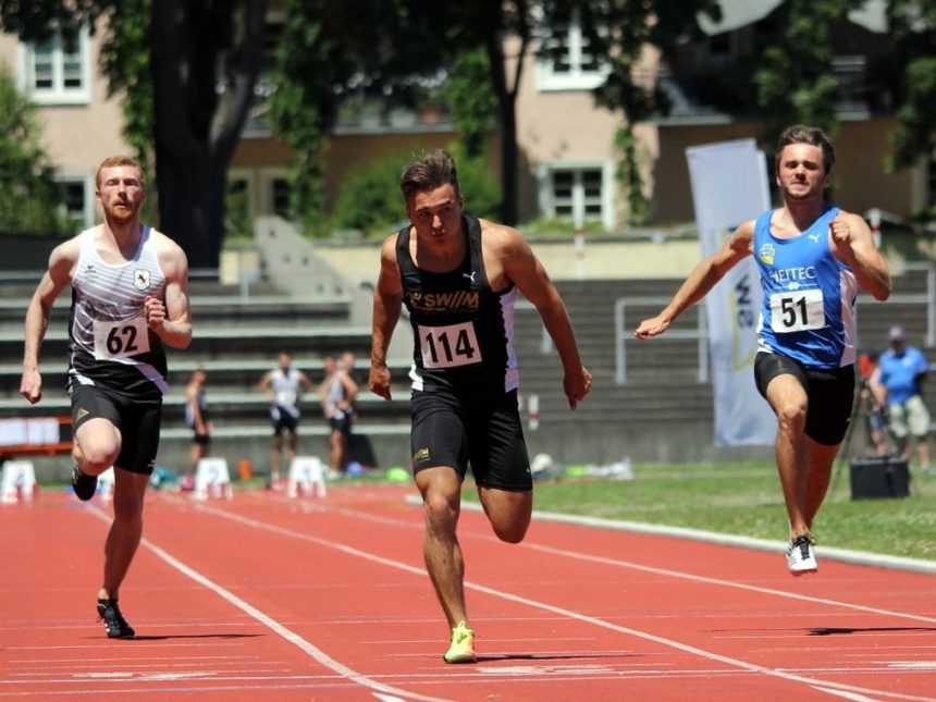 Olbert sprintet zu neuer 100-Meter-Bestzeit, Potye steigt mit Sprung über 2,21 Meter in Saison ein