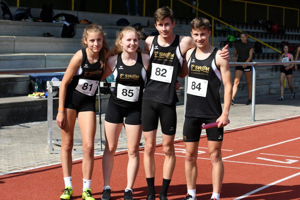 4x400-Meter-Mixed-U18-Staffel der LG Stadtwerke München