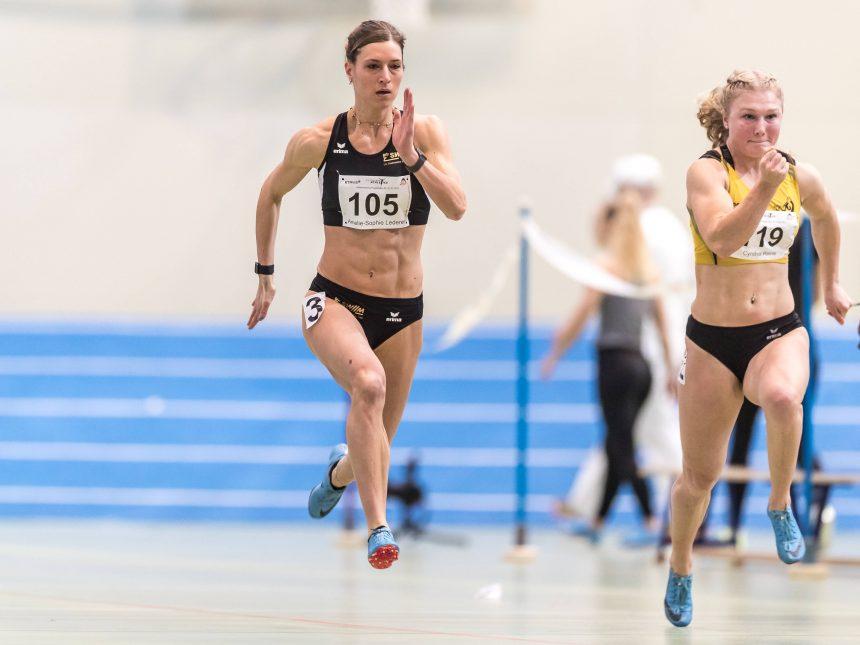 Amelie Lederer sprintet mit 60-Meter-Bestzeit in die deutsche Top fünf