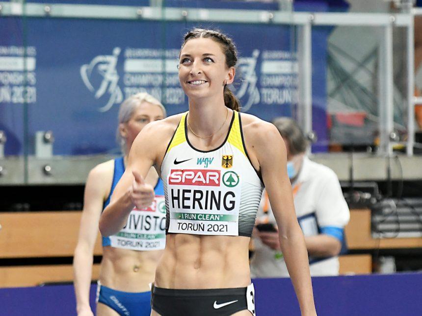 Hallen-EM Tag 2: Christina Hering zieht in die nächste Runde ein
