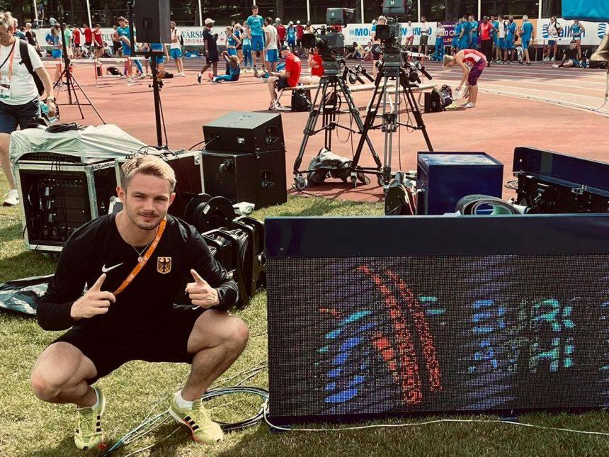 Yannick Wolf steht im 100-Meter-Finale der U23-Europameisterschaften