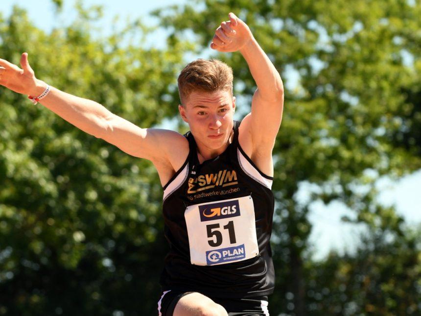 Sebastian Kottmann ist Deutscher U20-Meister im Dreisprung